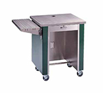 Piper Products R2-CS BLK 36-in Cashier Stand w/ Drawer & Lock, Open Body, Mobile, Modular, Black