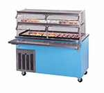 Piper Products R2-CI BLK 36-in Enclosed Base Cold Food Unit w/2-Pan, Ice Cooled, Mobile, Modular, Black