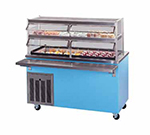 Piper Products R6-FT BLK 96-in Mobile Top Serving Counter w/ Enclosed Base, Modular, Black