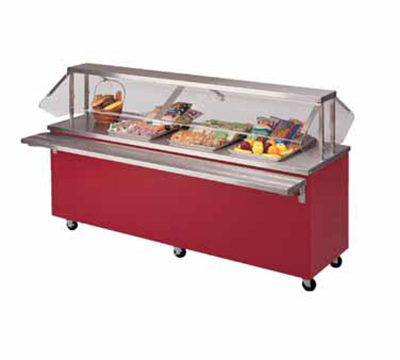 Piper Products R3-ST BLK 50-in Mobile Solid Top Serving Counter w/ Enclosed Base, Modular, Black