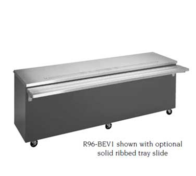 Piper Products R1-BEV1 BLK 28-in Beverage Serving Counter w/ Enclosed Base, Single Trough, Modular, Black