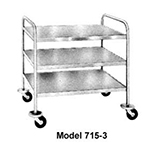Piper Products 715-2 21-in Utility Cart w/ 2-Shelf & Open Base, Angle Frame