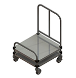 Piper Products 720 Open Style Tray Cart w/ Single Tray Stack For 14x18-in Trays, Stainless