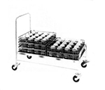 Piper Products 721 Open Style Tray Cart w/ Double Tray Stack For 18x26-in Pans, Stainless
