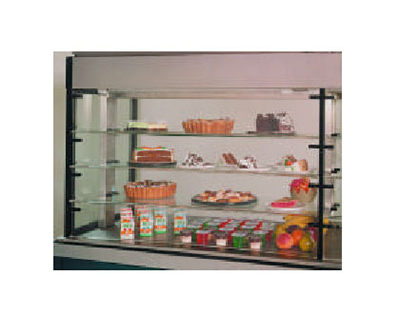 "Piper Products PDR-1 53"" Countertop Refrigeration w/ Pass Thru Access - Sliding Door, Stainless, 208v/1ph"