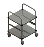 Piper Products R470 Cup Glass Rack Cart For 20x20-in Racks w/ 5-Rack Capacity, Open Style