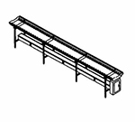 Piper Products SSC-12 12-ft Conveyor Tray Make-Up w/ Nylon Rollers, Stainless