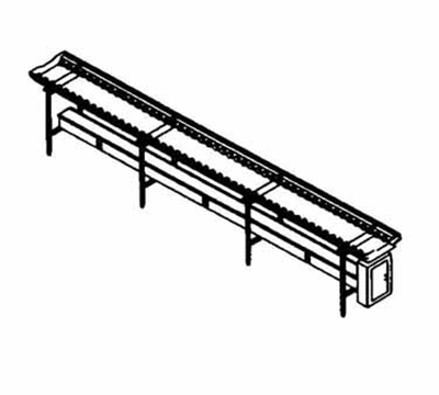 Piper Products SSC-16 16-ft Conveyor Tray Make-Up w/ Nylon Rollers, Stainless