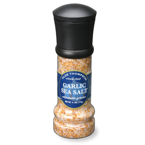 Olde Thompson 1008-08 Disposable Grinder w/ Garlic Sea Salt, 9.7-oz Jar