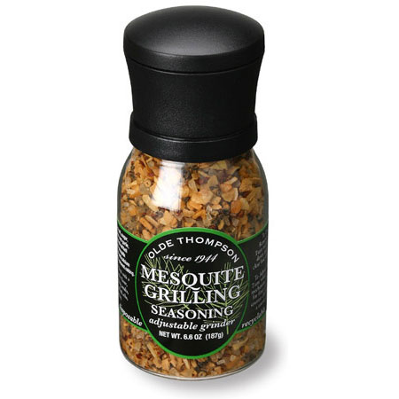 Olde Thompson 1020-14 Disposable Grinder w/ Mesquite Grilling Seasoning, 6.6-oz Jar