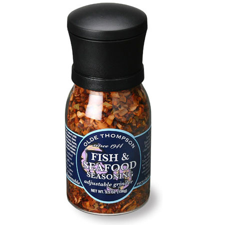 Olde Thompson 1020-15 Disposable Grinder w/ Fish & Seafood Seasoning, 5.5-oz Jar