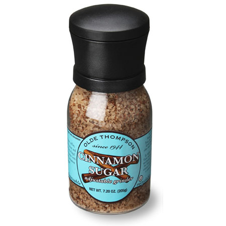 Olde Thompson 1020-19 Disposable Grinder w/ Cinnamon & Sugar Seasoning, 7.2-oz Jar