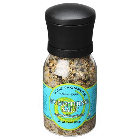 Olde Thompson 1020-62 7.6-oz Everything Salt w/ Adjustable Grinder