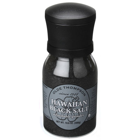 Olde Thompson 1020-69 10.6-oz Hawaiian Black Salt w/ Adjustable Grinder