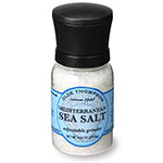 Olde Thompson 1040-06 Disposable Mini Grinder w/ Mediterranean Sea Salt, 4.5-oz Jar
