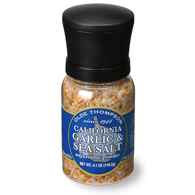 Olde Thompson 1040-08 Disposable Mini Grinder w/ California Garlic & Sea Salt, 4.1-oz