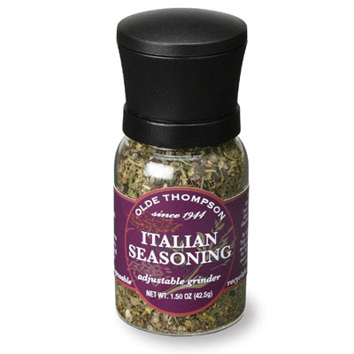 Olde Thompson 1040-09 Disposable Mini Grinder w/ Italian Seasoning, 1.5-oz Jar