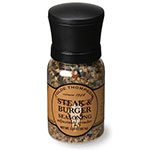 Olde Thompson 1040-10 Disposable Mini Grinder w/ Steak & Burger Seasoning, 3.25-oz Jar