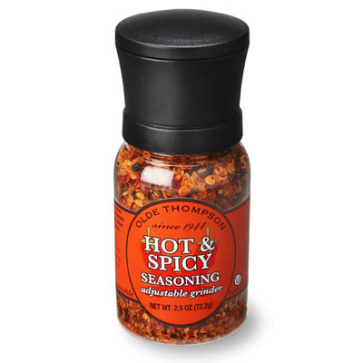 Olde Thompson 1040-17 Disposable Mini Grinder w/ Hot & Spicy Seasoning, 2.5-oz Jar