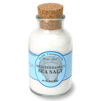 Olde Thompson 22-112 Uniodized Mediterranean Sea Salt, 20-oz Jar