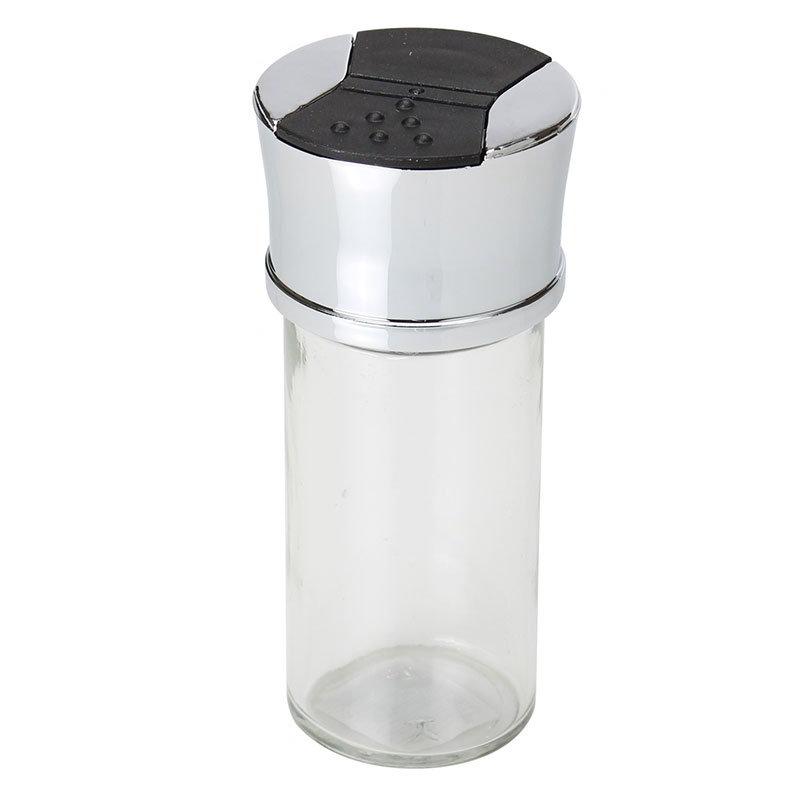 Olde Thompson 22-350 Individual Spice Jar, Brushed & Clear Finish, Chrome