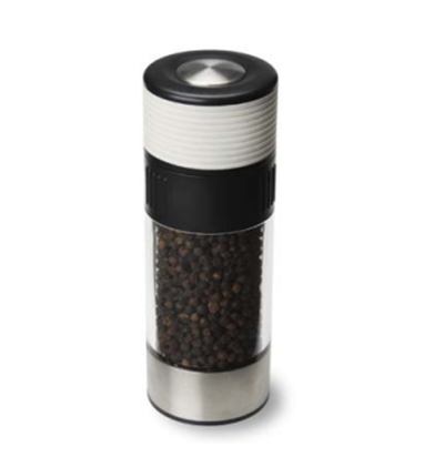 Olde Thompson 3027-26 6-in Tower Peppermill w/ Soft Grip & Black Pepper, White