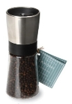 Olde Thompson 3088-00 Saxony Pepper Mill, Brushed & Clear Finish, 5.5-in