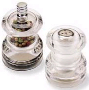 Olde Thompson 351540 Peppermill/Salt Shaker Set, Half Pint, Clear Acrylic, 2-1/2 in