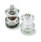 Olde Thompson 3515-40-0-0 Half Pint Pepper Mill & Salt Shaker Set, 2.5-in, Acrylic, Filled