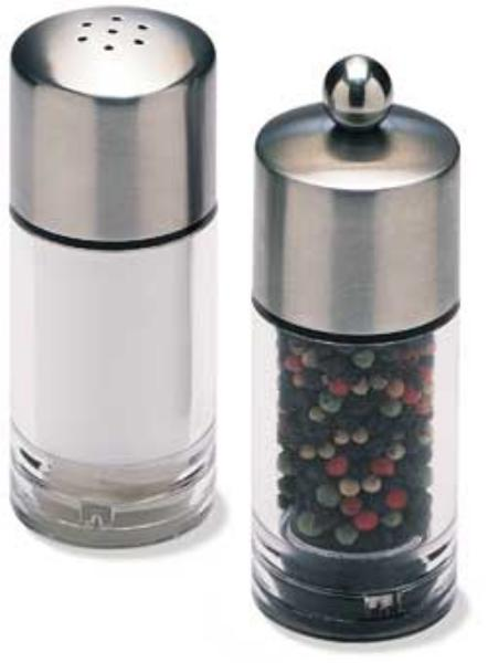 Olde Thompson 35204000 Peppermill/salt Shaker Set, Biscayne, Clear Acrylic W/SS Top