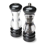 Olde Thompson 3521-28-0-0 7-in Del Norte Salt & Pepper Shaker Set w/ Black Top & Base