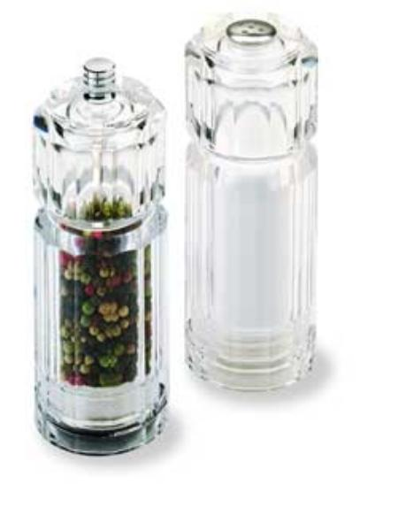 Olde Thompson 35454000 Peppermill/Salt Shaker Set, Coronado, Clear Acrylic, 5-1/2 in