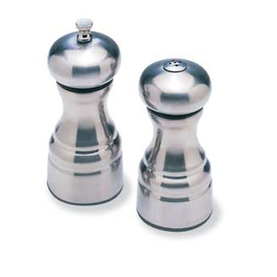 Olde Thompson 35510000 Peppermill/Salt Shaker Set, Brushed Metal Platel, 5-3/4 in