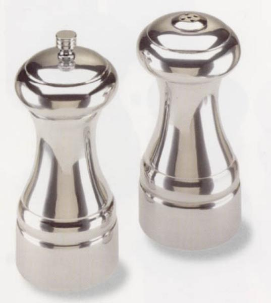 Olde Thompson 35700085 Pewter Finish Salt Shaker and Pepper Mill Set, Statesman Collection