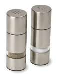 "Olde Thompson 3725-00 4.5"" Salt & Pepper Shaker Set w/ Plastic Lid, Round"