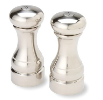 Olde Thompson 3751-00 Normandy Salt & Pepper Shaker Set, 5.5-in, Brushed
