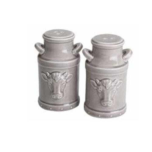 "Olde Thompson 3769-G 3.5"" Ceramic Milk Jug Salt & Pepper Shakers"