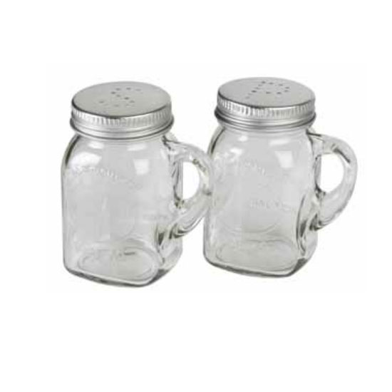 "Olde Thompson 3771-G 3.5"" Mason Jar Salt & Pepper Shakers w/ Handles"