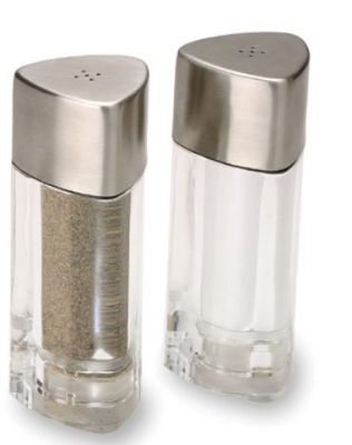 Olde Thompson 3796-00 Triangles Salt & Pepper Shaker Set, 5.5-in, Filled Salt & Pepper