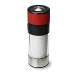 Olde Thompson 3827-23 6-in Tower Salt Mill w/ Soft Grip & Sea Salt, Red