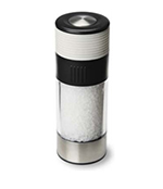 Olde Thompson 3827-26 6-in Tower Salt Mill w/ Soft Grip & Sea Salt, White