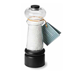 Olde Thompson 3885-00 7.25-in Oxford Salt Mill w/ Sea Salt, Clear/Black