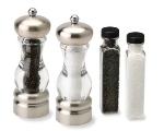 Olde Thompson 3921-90 Del Norte Salt & Pepper Mill Gift Set, Filled, 7-in, Refill
