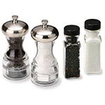 Olde Thompson 3957-90 Aspen Salt & Pepper Mill Set w/ Refill, Acrylic & Chrome, 5-in