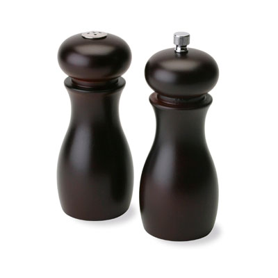 Olde Thompson 50500000 Peppermill/Salt Shaker Set, Cafe, Wood, 6 in