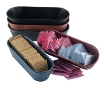 HS Inc HS1010BB Microwavable Cracker Condiment Basket, 8.5 x 3 x 2-in, Polyethylene, Blueberry