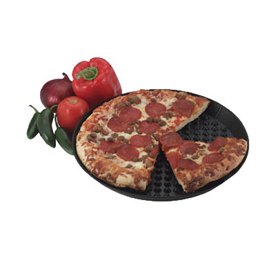 "HS Inc HS1031CH 14"" Round Pizza Pleezer, Microwavable, Polypropylene, Charcoal"