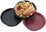 "HS Inc HS1038SBPK 10"" Round Deli Server w/ Short Base, Polypropylene, Paprika"