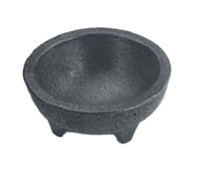 "HS Inc NHS1008CH 4-oz Molcajete Chico, 3 x 1.5"", Polypropylene, Charcoal"