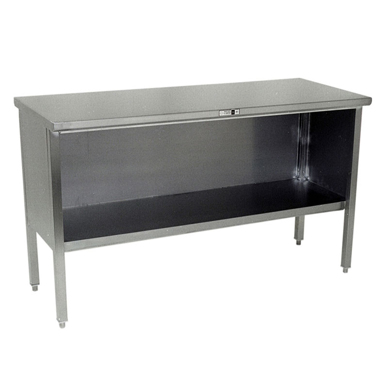 "John Boos 140-07 Flat Top Work Table - 60"" x 30"", Cabinet Base, Stainless"
